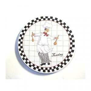 Burner Cover Night Shift Chefs Black White Checked NEW