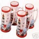 Lighthouse Series Ceramic Mugs Set of 4 NEW Coffee Tea