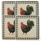 Rooster Morn Gas Stovetop Burner Covers NEW Set of 4