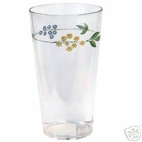 Corelle Secret Garden Coolers Acrylic Glasses Set 6 NEW