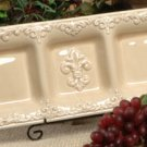 Drake Design Wheat 3 Section Tray Ceramic NEW 3197