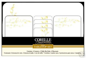 Corelle Kobe Tabletop Placemats Coasters Hot Pads
