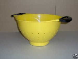 Reston Sunny Yellow Colander 5 Qt Handled NEW