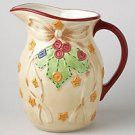 Pfaltzgraff Crafty Christmas Pitcher Stoneware NEW