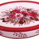 Amaryllis Insulated Serving Platter Stoneware NEW 2Pc