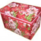 Amaryllis Recipe Card Box and 24 Cards NEW
