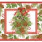 Chickadee & Pine Cutting Board NEW Tempered Glass 12x15