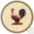 Rooster Wrought Iron Lazy Susan Glass NEW