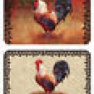 Placemats Rooster Wrought Iron Reversible Set of 6 NEW