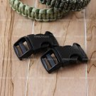 "2 ITW Nexus Contoured 3/4"" Black SR Buckles for Paracord Bracelets"