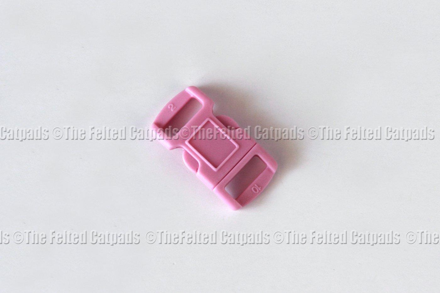 """25 Pink Contoured 3/8"""" SR Buckles for Paracord Bracelets"""