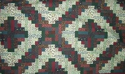 """26"""" by 90"""" Light Log Cabin Variation Cheater Top"""