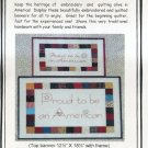 Proud to be American Embroidery Quilt Pattern