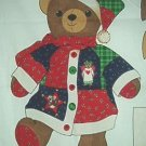 Christmas Santa Bear Cotton Fabric