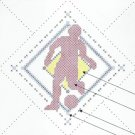Soccer Football Player Quilt Blocks OOP