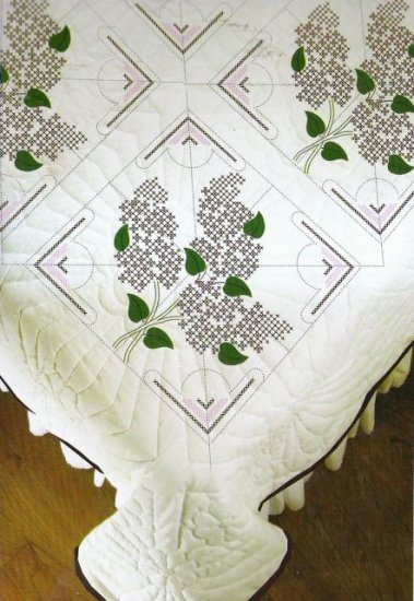 Purple Lilacs Quilt Blocks