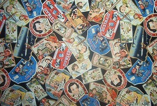 Nostalgic Antique Needle Pack Quilt Fabric OOP