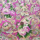 Retro Fushia Paisley Quilt Fabric