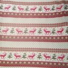 Beige Reindeer Trees Fleece for Blanket