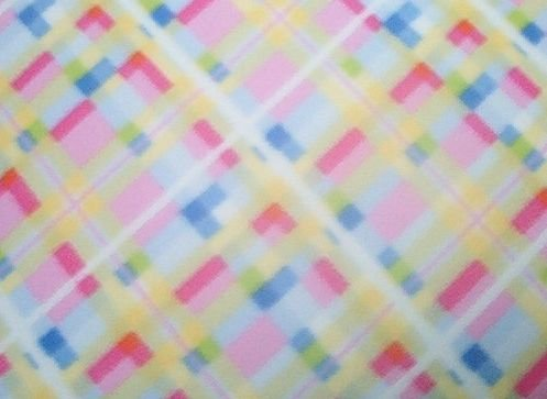 Pastel Plaid Fleece for Blanket