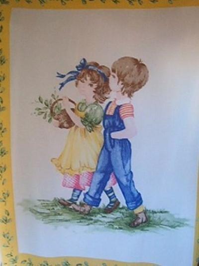 Vintage Style Kids Retro Fleece Blanket Panel