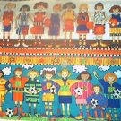Baseball Soccer Border Girls KP Kids Quilt Fabric OOP