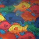 Bright Allover Fish Kids Quilt Fabric OOP
