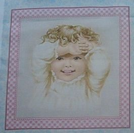 Darling Nostalgic Baby Blocks Kids Quilt Fabric OOP