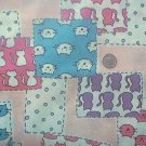 Kittens Cats Patches Kids Quilt Fabric OOP