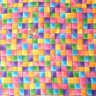 Multicolor Check Mottled Kids Quilt Fabric