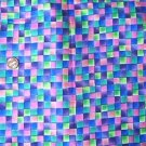 Multicolor Check Purple Mottled Kids Quilt Fabric