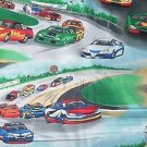 Race Car Nascar Kids Quilt Fabric OOP