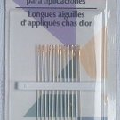 Gold Eye Applique Sharps 12 Needles sz 10