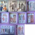 Lot of 10 Vintage Pants Skirt Patterns Size 20 6 Uncut