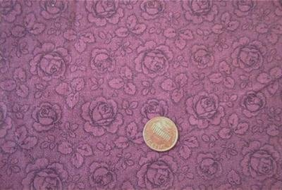 Burgundy Roses Tone on Tone Fabric
