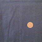 White Dots on Navy Fabric