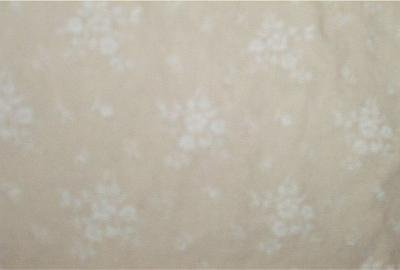 Daisy Clusters on Beige Fabric