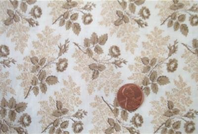 Brown Roses on Beige Fabric