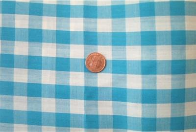Blue Gingham Check Fabric