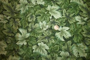 Green Leaves Quilt Fabric