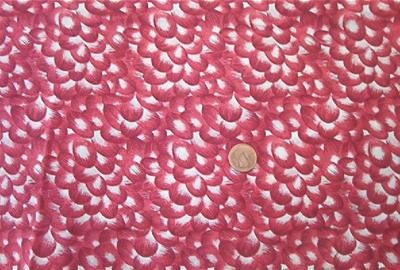 Cranberry and White Quilt Fabric