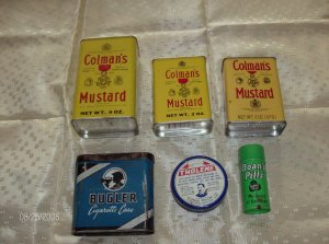 Lot of 6 different vintage tins