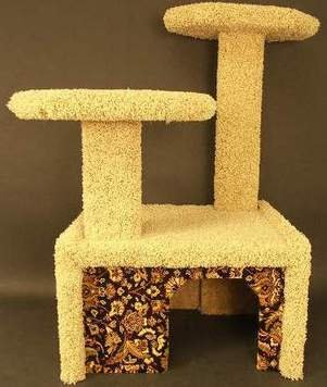 CAT CONDO WITH GREAT WOVEN DESIGN-----ORIENTAL EXPRESS