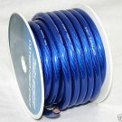 0 GAUGE BLUE POWER WIRE CABLE ROLL 25 FT NEW  PC0-25BL