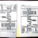 """60 MAILING LABELS 8.5""""x5.5"""" 30 SHEETS 8.5""""x11"""" NEW"""