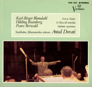BLOMDAHL ROSENBERG, Antal Dorati conducting Stockholm Philharmonic Orchestra RCA VICS 1319 GEMA LP