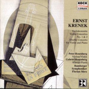 Ernst Krenek Concerto for violin & orchestra No.1, Op.29 Bamberg Symphony KOCH SCHWANN 3-6408-2