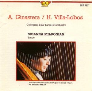 Susanna Mildonian Harp Concertos Ginastera / Villa-Lobos, Eduardo Mata, Philharmonic Radio Orch