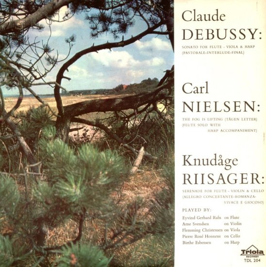 """Debussy Nielsen Knudage Riisager Triola TDL 204 Holland 10"""" LP"""