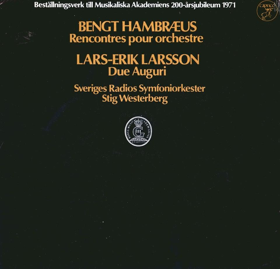 Bengt Hambræus Rencontres Lars-Erik Larsson / Stig Westerberg Auguri Caprice 1032 Mint Still Sealed